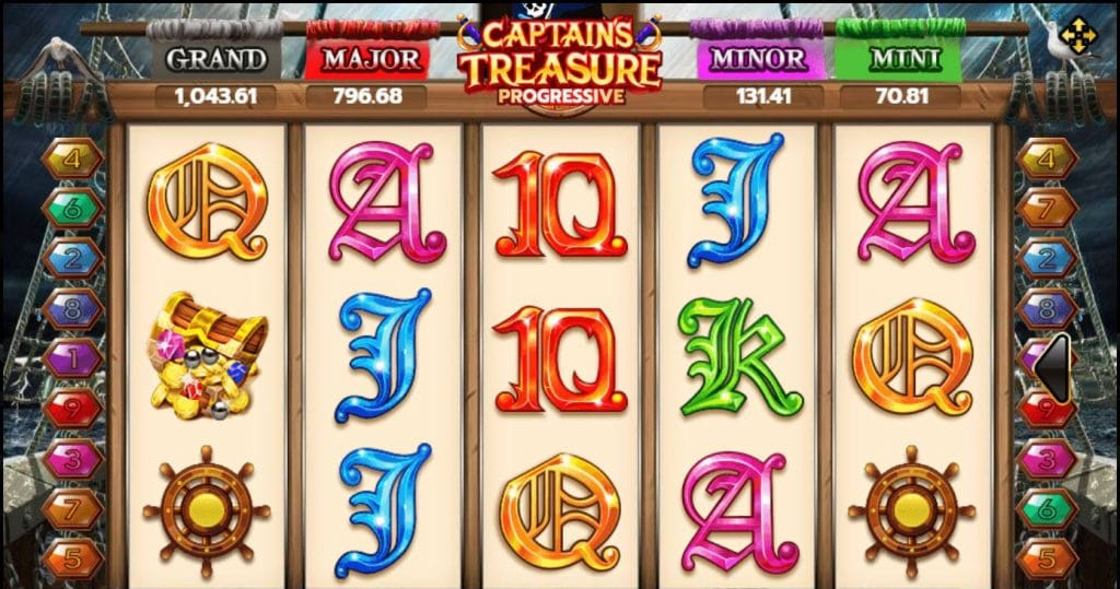 เกมสล็อต Captains Treasure Progressive