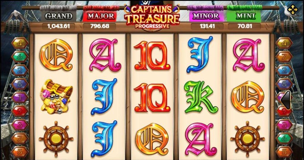 เกมสล็อต Captains Treasure Progressive