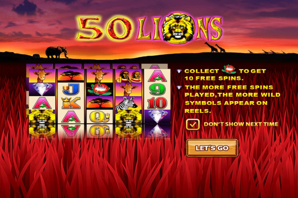 เกมสล็อต Fifty Lions