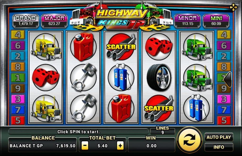 เกมสล็อต HighwayKings Progressive