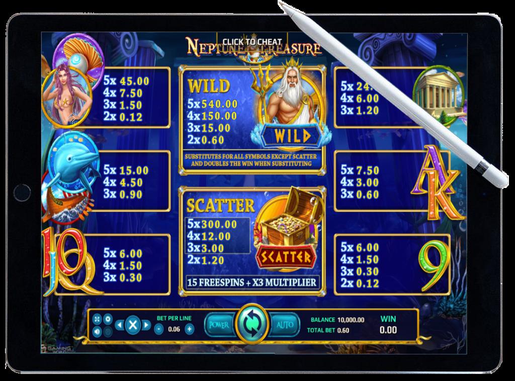 รีวิว เกมสล็อต Neptune Treasure
