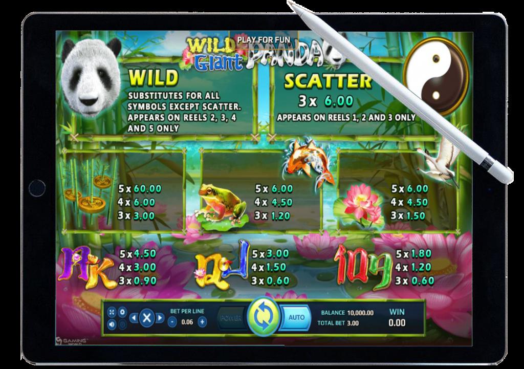 รีวิว เกมสล็อต Wild Giant Panda