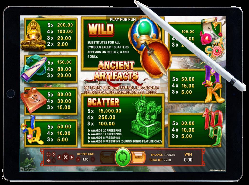 รีวิว เกมสล็อต Ancient Artifact
