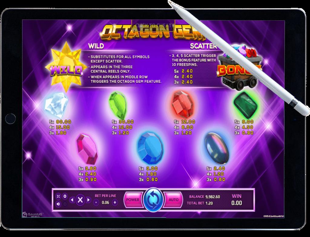 รีวิว เกมสล็อต Octagon Gem