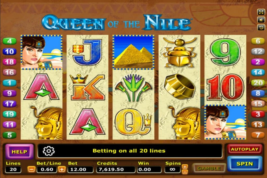เกมสล็อต Queen Of The Nile