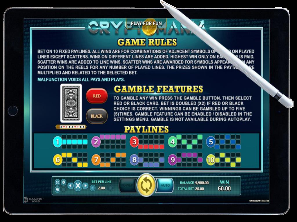 รีวิว เกมสล็อต Crypto Mania